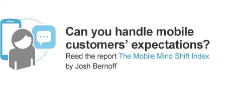 The true impact of mobile is the change in attitudes it creates; this is The Mobile Mind Shift. Read more in the report, The Mobile Mind Shift Index by Josh Bernoff.