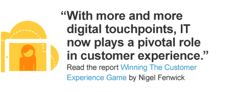 With more and more digital touchpoints, IT now plays a pivotal role in customer experience.
